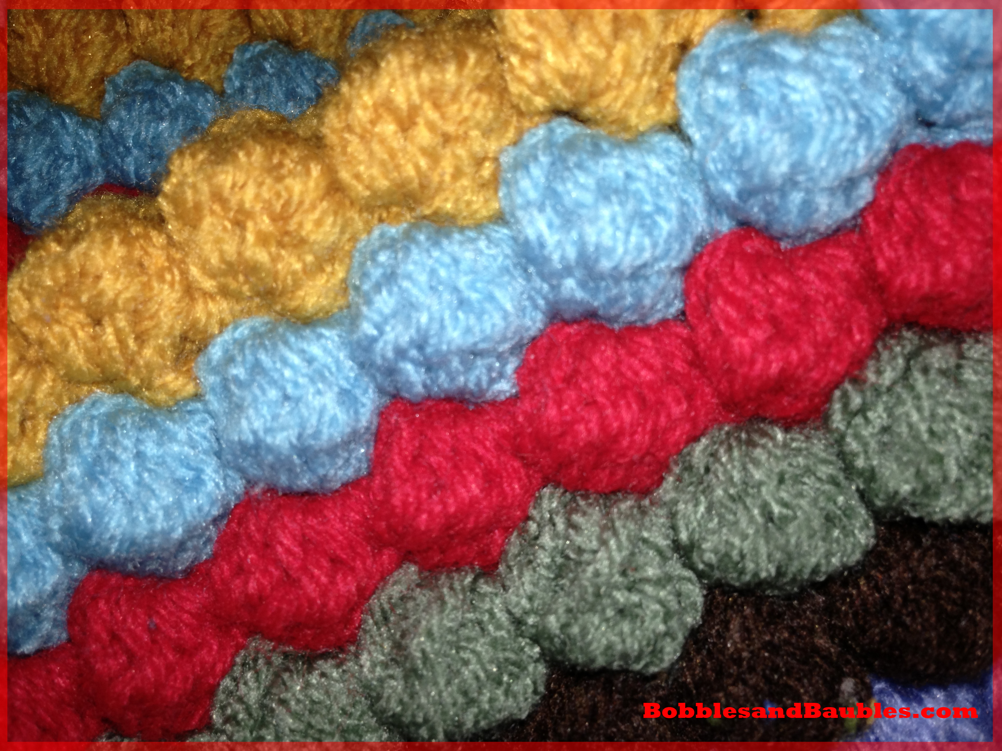 Knitting Pattern For Bobble Blanket : My Never-Ending Scrap Yarn Bobble Blanket   Bobbles & Baubles