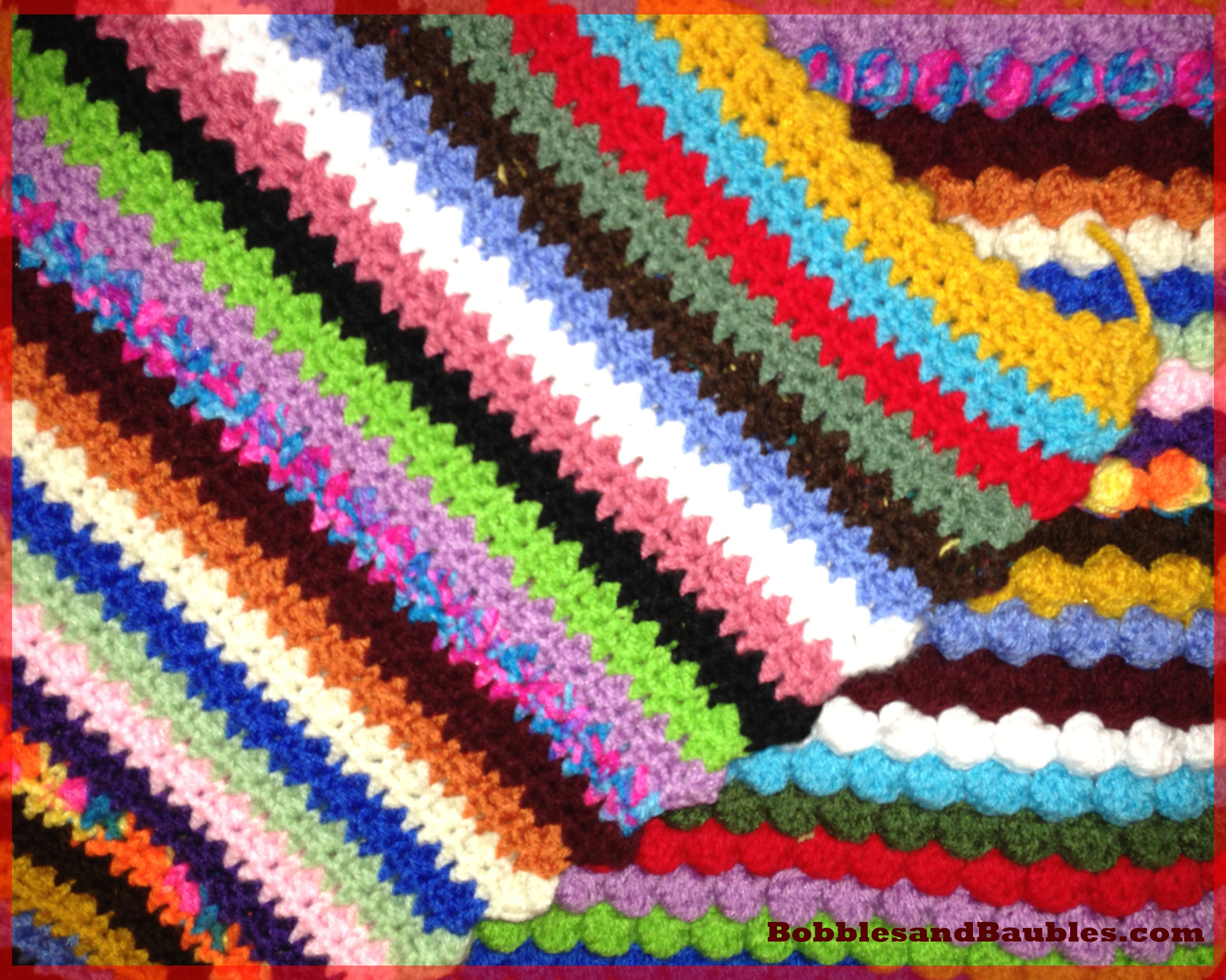 My Never-Ending Scrap Yarn Bobble Blanket – Bobbles   Baubles 27d1c243f3f