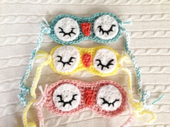 Bedtime owl sleep masks