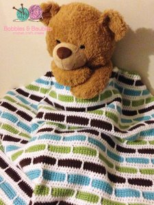 Crochet Stripes Blanket - Bobbles & Baubles