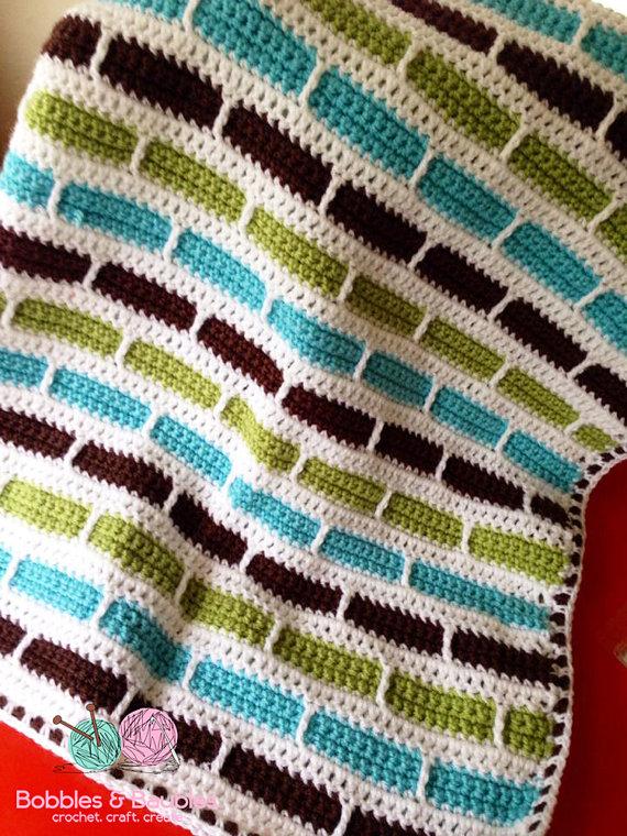 Yarnspirations Bernat Baby Blanket Textured Grid Baby