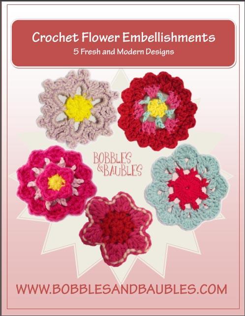 Crochet Flower Embellishments Free Pattern Bundle Bobbles Baubles
