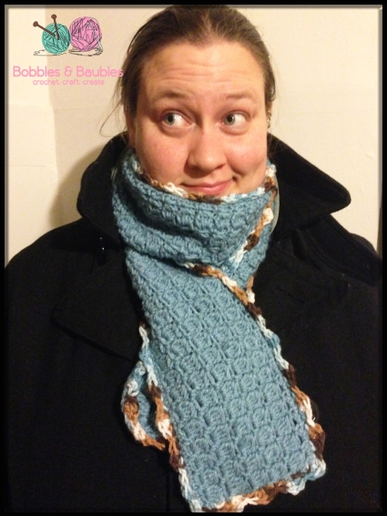 Boxy Border Scarf - Bobbles & Baubles